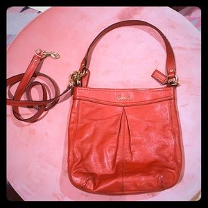 Leather Coach Hobo bag with extra crossbody strap